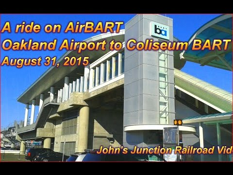 [HD] Riding AirBART, Oakland Airport to Coliseum BART Aug 31 2015