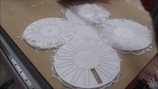 PVC Hartschaumplatten CNC fräsen Teil 2 - P4D