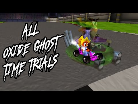 Beating All Oxide Time Trial Ghosts (No Unintended Shortcuts) | Crash Team Racing