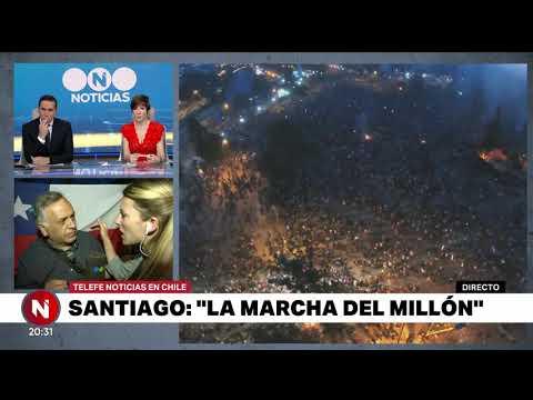 SANTIAGO de CHILE: la MARCHA del MILLÓN - Telefe Noticias