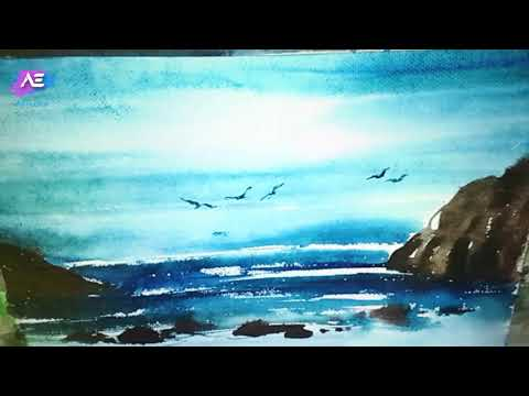watercolor painting landscape | quick transparent watercolor demonstration | Art Explain | EP20-S1