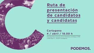 Ruta de presentación de candidatos y candidatas en Cartagena