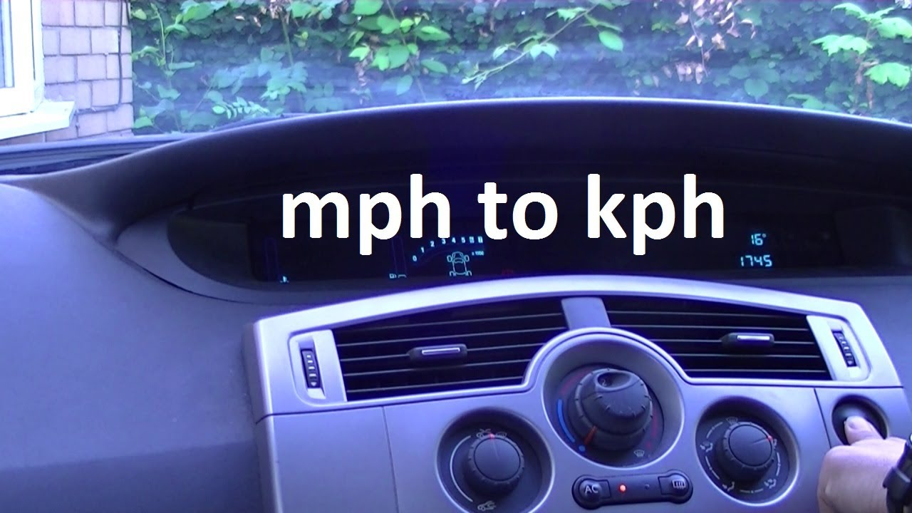 how to change the speedo from mph to kph on a renault grand scenic youtube. Black Bedroom Furniture Sets. Home Design Ideas