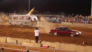 MOTORHOME CRASH Demolition Derby Epic RV LAUNCH Wreck Accident County Fair Car Crashes