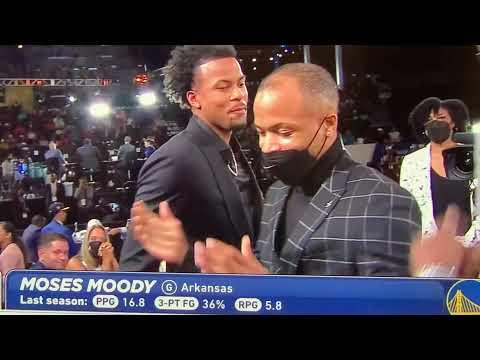 Moses Moody Warriors 2021 NBA 1st Round Draft Pick From Univ Of Arkansas