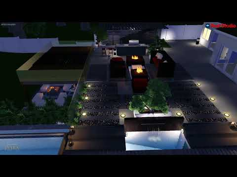 3D Swimming Pool Spa Landscape Out Door Design Los Angeles, CA