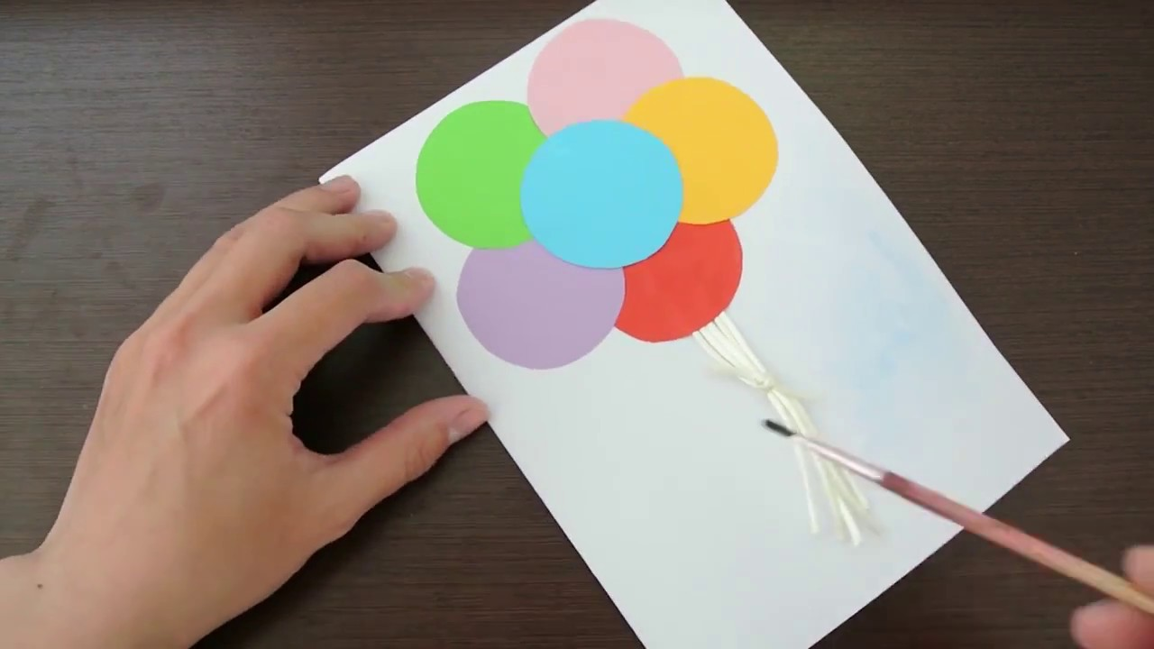 Днем первым, как делать открытку своими руками на день рождения легкая
