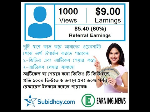 How To earn money Subidhay | Online income Bangla |  Payment bkash | Subidhay.com | Earning.news