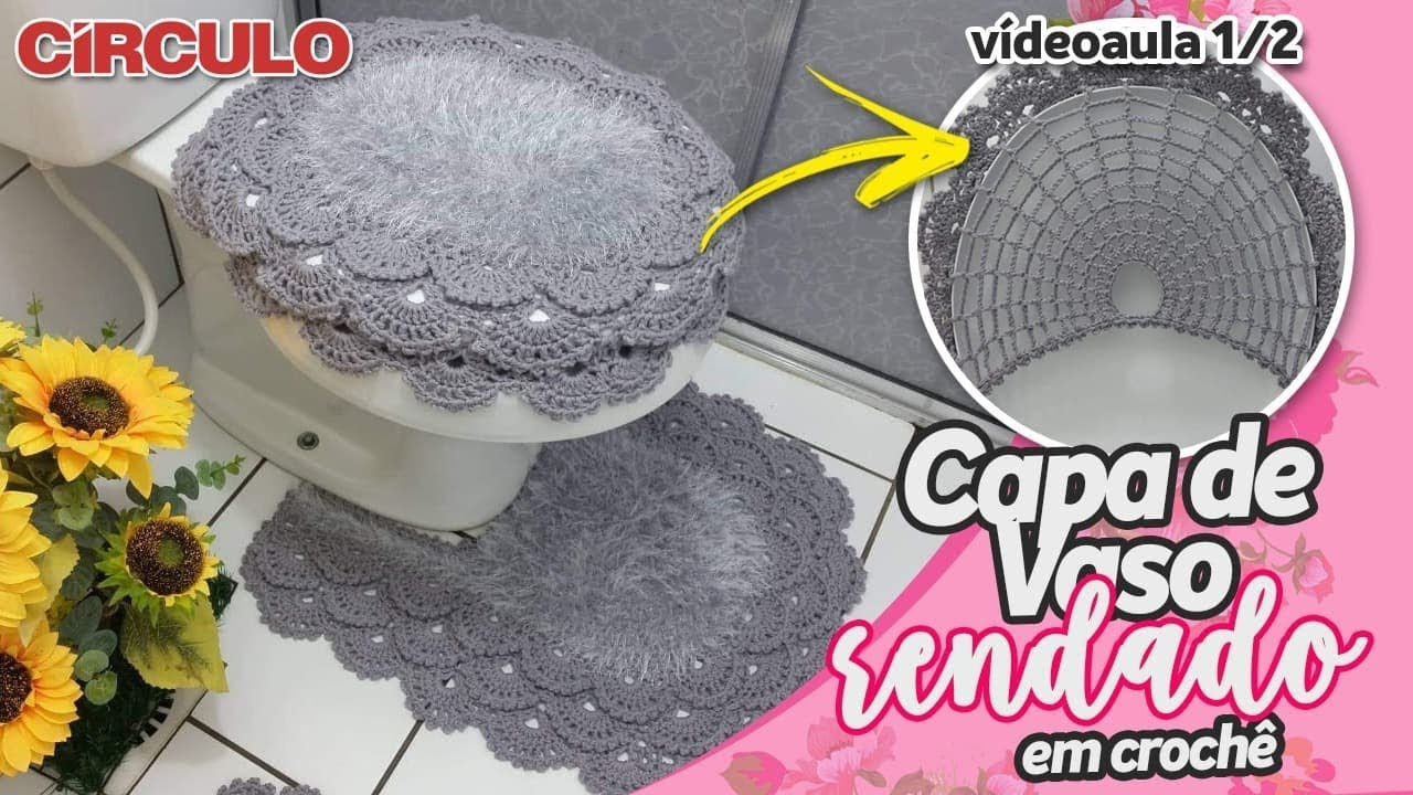 Capa para vaso sanit rio rendada 1 2 youtube for Manija para sanitario