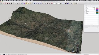 Creating scaled 3d maps and geography using Sketchup and heightmaps. Made using all free tools.