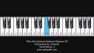 Why this Kolaveri Kolaveri Kolaveri Di   Piano Tutorial   YouTube