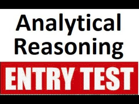 Analytical  Reasoning (type 4), solved for GAT HAT Entry Test, NTS HEC CSS  [in Urdu ] MunirKhokhar