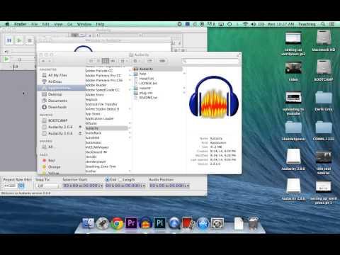 Audacity install for Mac OS