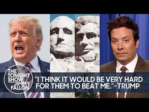 Trump Confident He'd Beat Washington & Lincoln, Tokyo Olympics' Bizarre Bed| The Tonight Show