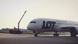 """Powitanie Boeinga 787 Dreamliner SP-LRF """"Franek"""""""