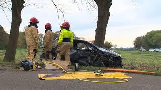 Ongeval beknelling bij Nieuw Beerta