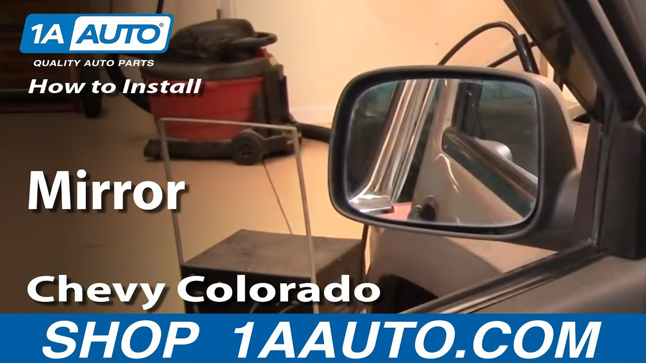 How To Install Replace Side Rear View Mirror Chevy