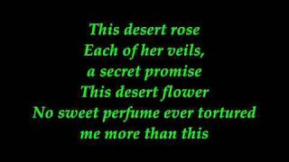 Sting Desert Rose With Lyrics
