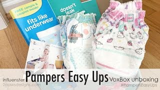 Influenster Pampers® Easy Ups™ VoxBox Unboxing