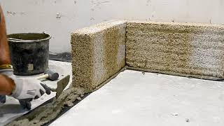 How to start an Isohemp hemp block masonry?