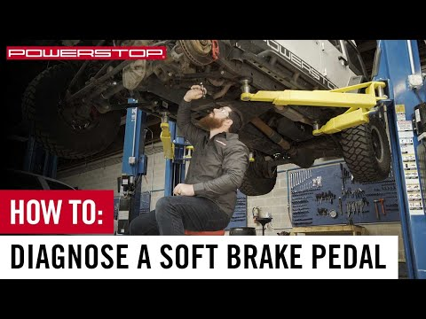 How To Diagnose a Spongy or Soft Brake Pedal | PowerStop