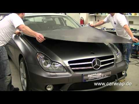 mercedes cls full car wrap in 3m anthrazit metallic matt