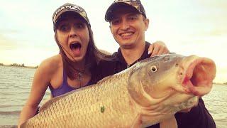ВОТ ЭТО ВЗЯЛ ЖЕНУ НА РЫБАЛКУ Ловля сазана на Дону Рыбалка 2021