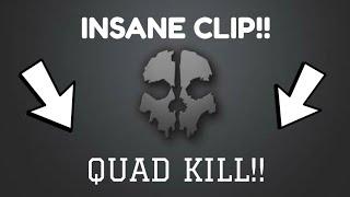 INSANE QUAD KILL!!   Call of Duty Ghost Clips #1