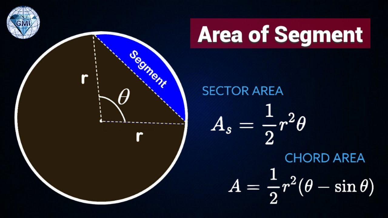 How to find area of a segment in a circle from sector and triangle how to find area of a segment in a circle from sector and triangle youtube ccuart Gallery