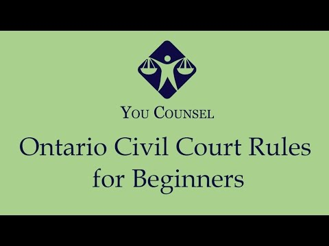 Ontario Civil Court Rules for Beginners