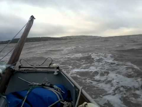 Lugger in 20-25mph winds