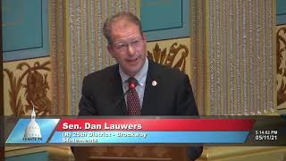 Sen. Lauwers addresses the Senate on potential Line 5 closure