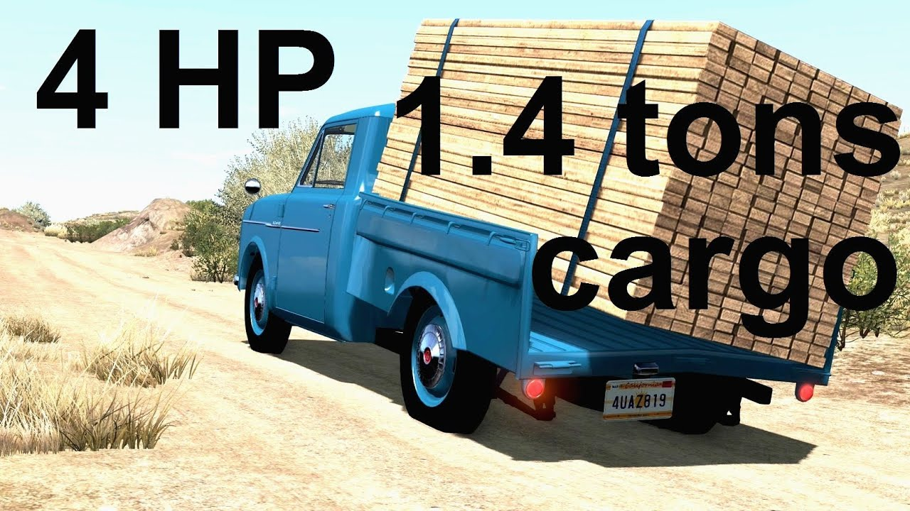The 4 Horsepower Pickup Truck That Actually Works! BeamNG. Drive