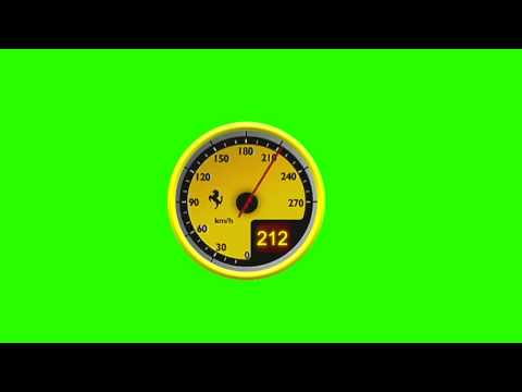 Speedometer Green Screen Animation thumbnail