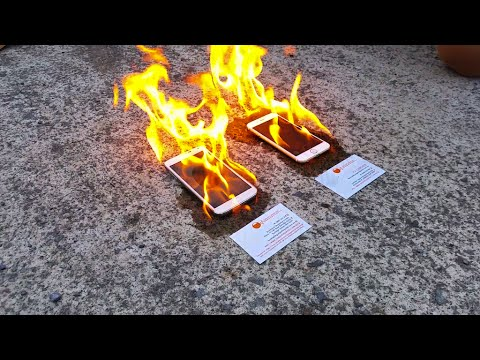 Apple iPhone 6 vs Samsung Galaxy S5 ON FIRE
