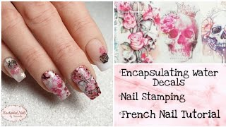 Cjp Acrylic Nails | How To Encapsulate Water Decals | Nail Art | Valentines Nails 2020 ❤