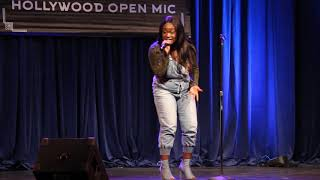 Neicey Performs in Hollywood, California Mic Night