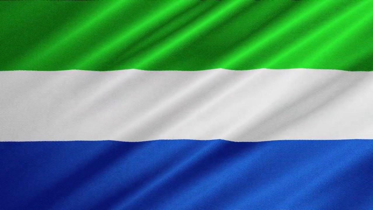 The flag of Sierra Leone.