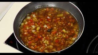 Соево-имбирный овощной китайский соус к жареной рыбе от шеф-повара /  Илья Лазерсон / Обед безбрачия