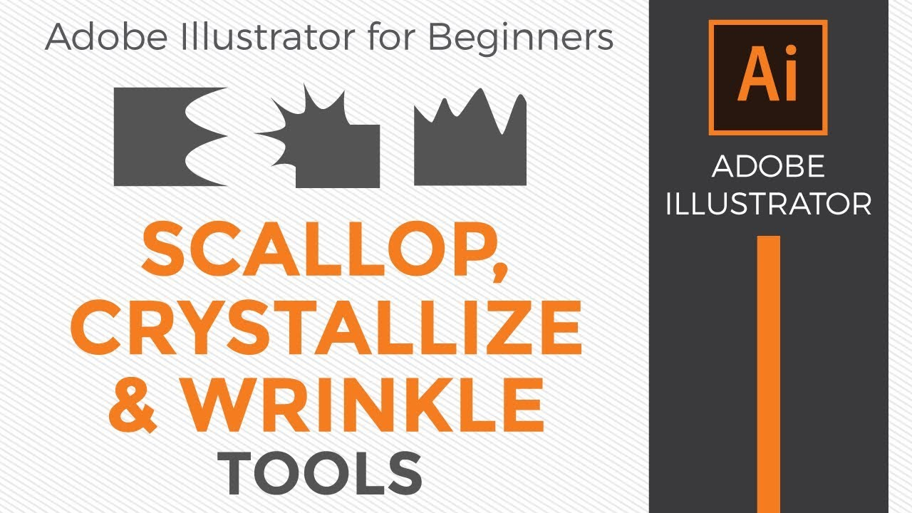 How to use the Scallop, Crystallize and Wrinkle Tools in Adobe Illustrator  CC 2019