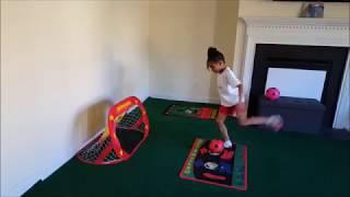 1 2, Lift and Bend; 3 4, Kick and score