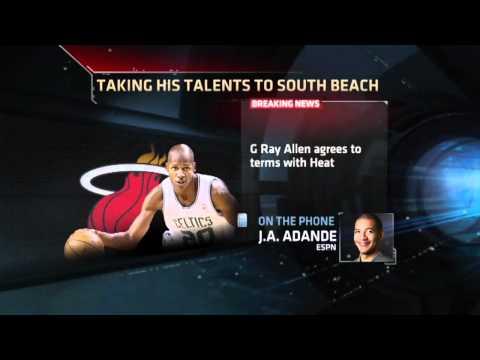 Ray Allen Joins Miami Heat 2012