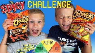Twins SPICY HOT Cheetos Challenge!
