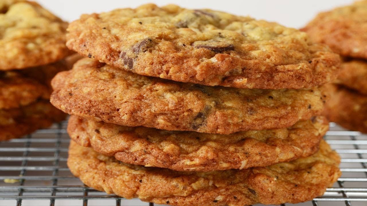 Crispy Oatmeal Cookies Recipe Demonstration Joyofbaking Com Youtube