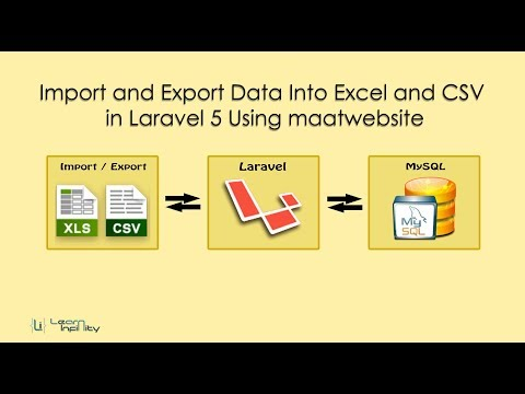 Import and Export Excel and CSV in Laravel 5 Using maatwebsite - Learn Infinity