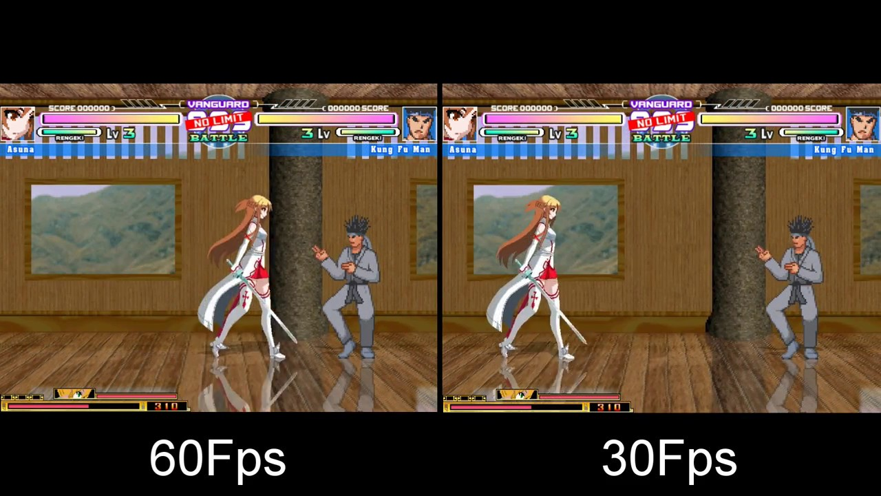 MUGEN 30fps and 60fps Comparison