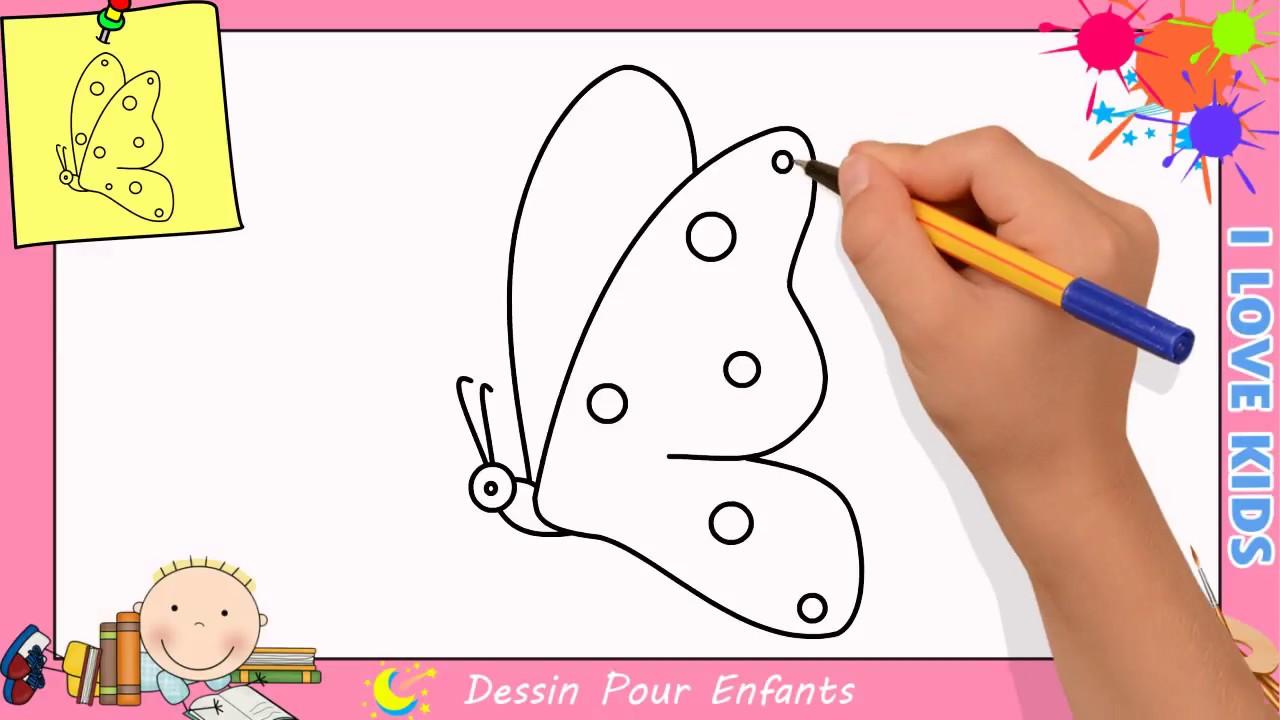 Comment dessiner un papillon facilement etape par etape pour enfants 7 youtube - Dessine un papillon ...