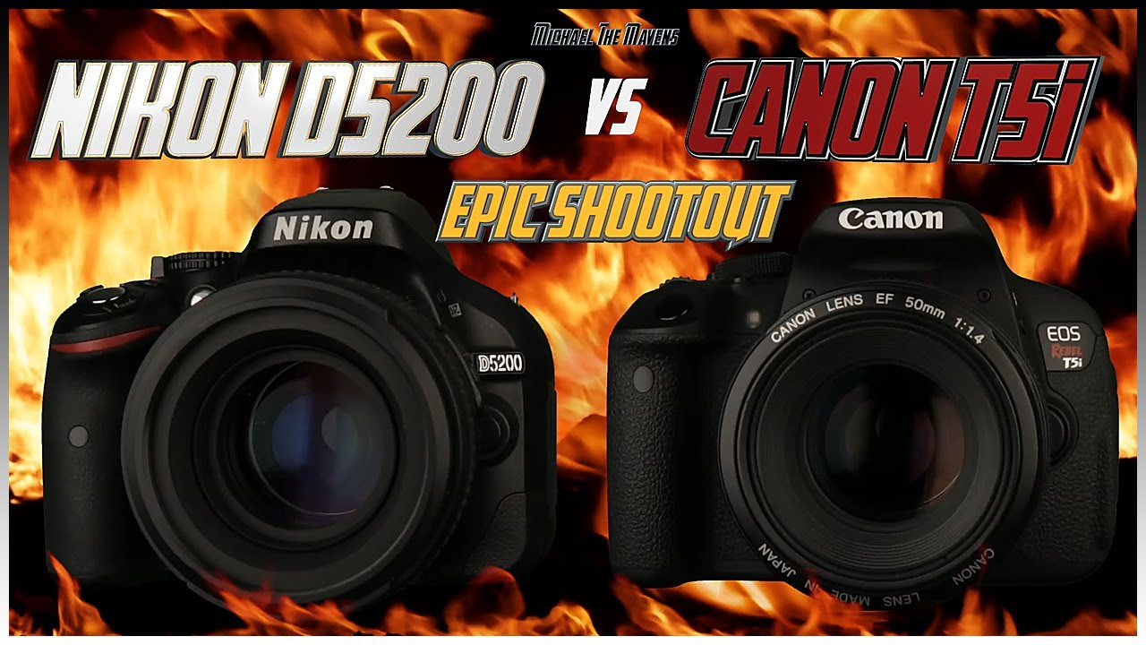 nikon d5200 vs canon t5i 700d epic shootout comparison