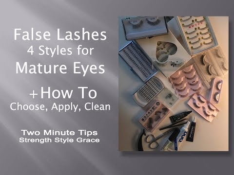 How to Choose, Apply, Clean & Care for False Lashes for Mature Eyes
