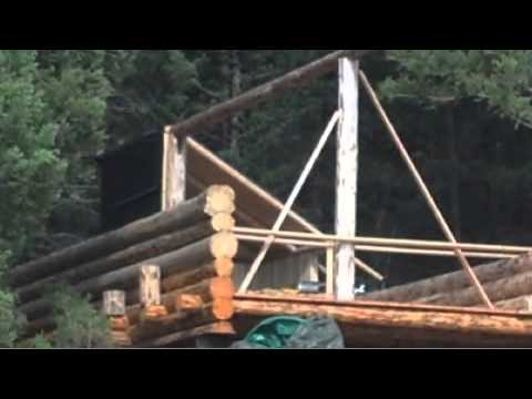 Philipsburg Guest Ranch - Construction of 1st Tent Cabin Mobile